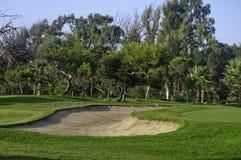 地堡路线高尔夫球 库存图片