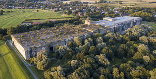 地堡Valentin -纳粹水下工厂的一个防护风雨棚 图库摄影