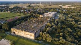 地堡Valentin -纳粹水下工厂的一个防护风雨棚 库存图片