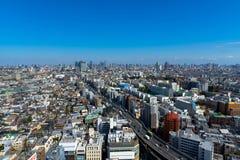 地平线在世田谷区ku,东京,日本 库存照片