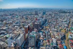 地平线在世田谷区ku,东京,日本 免版税图库摄影