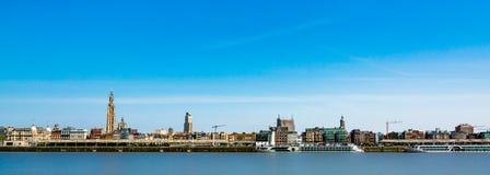 地平线在安特卫普市在比利时 免版税库存照片