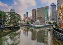 地平线在市吉隆坡 库存图片