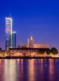 地平线在鹿特丹,荷兰 免版税库存图片