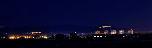 地平线在巴斯利卡塔 免版税库存照片