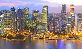 地平线新加坡Dowtown鸟瞰图 免版税库存图片