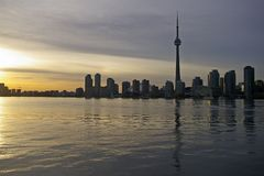 地平线日落多伦多 免版税图库摄影