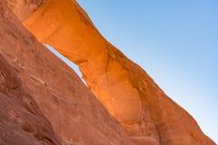 地平线曲拱在拱门国家公园,犹他 免版税库存照片