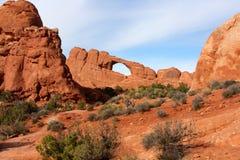 地平线曲拱,在拱门国家公园,犹他 图库摄影