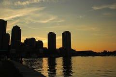 地平线波士顿 库存照片