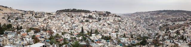 地平线耶路撒冷都市风景全景  免版税库存图片