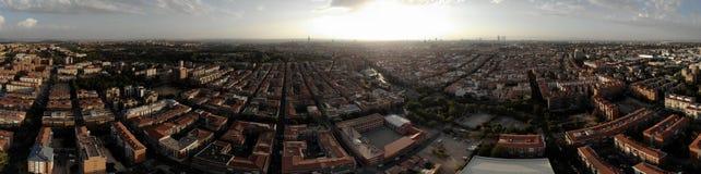 地平线马德里夜 库存照片