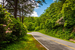 地平线驱动,在Shenandoah国家公园,弗吉尼亚 免版税库存图片