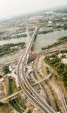 地平线鸟瞰图-城市风景 免版税库存图片