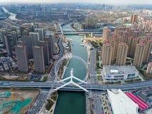地平线 城市建筑学都市风景和都市 免版税库存图片