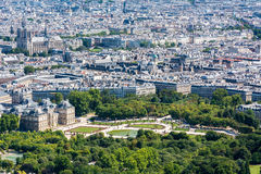 巴黎地平线从蒙巴纳斯塔的顶端 免版税库存照片