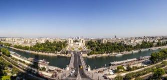 巴黎地平线从la游览埃菲尔的 图库摄影