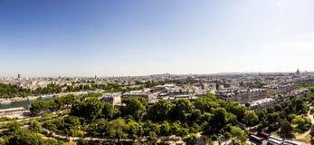 巴黎地平线从la游览埃菲尔的 库存图片