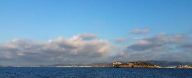 地形云,伊维萨岛 库存照片