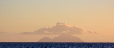 地形云, Saba 免版税库存照片