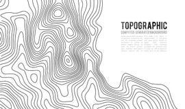 地形图等高背景 与海拔的Topo地图 等高线图传染媒介 地理世界地势地图栅格 皇族释放例证