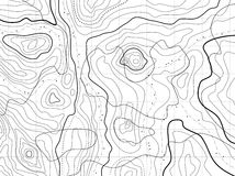 地形学抽象的映射 库存图片