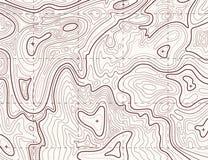 地形学的映射 映射栅格,等高地形安心线纹理的足迹 绘图概念 库存例证