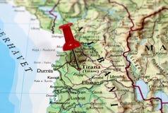 地拉纳在阿尔巴尼亚 库存照片