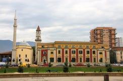 地拉纳,阿尔巴尼亚,政府 图库摄影