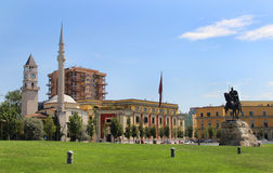 地拉纳,阿尔巴尼亚的市中心 库存图片
