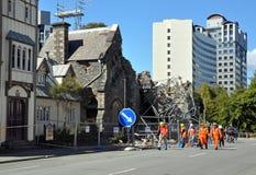 地方上坎特伯雷克赖斯特切奇的地震 免版税库存图片