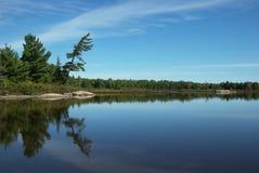 地方上grundy湖的公园 图库摄影