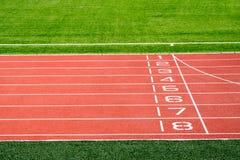 地方体育场和连续轨道 免版税库存图片