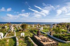 地方公墓在复活节岛 免版税库存图片