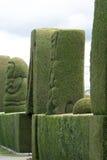 地方公墓的修剪的花园在Tulcan厄瓜多尔 库存图片
