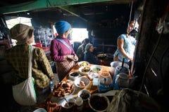 地方厨房在奇恩角山,缅甸 图库摄影