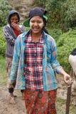 地方妇女在钦邦,缅甸 免版税图库摄影