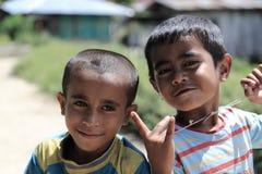 地方孩子在Moni 免版税库存图片