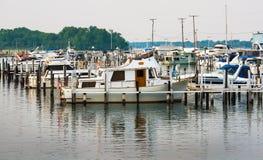 地方底特律小游艇船坞 库存图片
