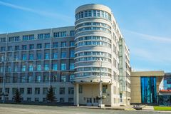 地方执行委员会的大厦在新西伯利亚 免版税库存图片