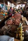 地方新鲜市场在Falam,缅甸(缅甸) 库存照片