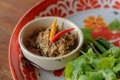 地方泰国食物 免版税库存照片