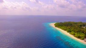 地方海岛的鸟瞰图 库存图片