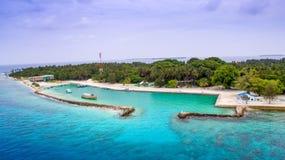 地方海岛的鸟瞰图 免版税图库摄影