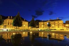 地方的de凡尔登老图书馆在格勒诺布尔 库存照片