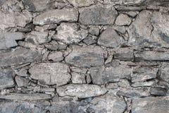 地方石头石墙  免版税库存照片