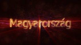 地方语言的Magyarorszag -发光的国名文本匈牙利 皇族释放例证