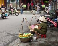 地方越南妇女摊贩 免版税库存照片