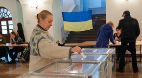 地方选举在乌克兰 图库摄影