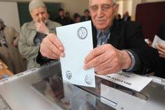 地方选举在土耳其。 免版税图库摄影